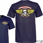 "POWELL PERALTA ""Winged Ripper"" Skateboard T-Shirt  NAVY Choose- S M L XL Bones"