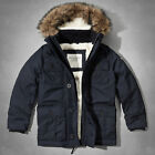 NWT Abercrombie & Fitch Mens Sentinel Range Parka Sherpa Lined jacket Coat - M