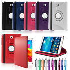 For Samsung Galaxy Tab A 8.0 T350 Folio Magnetic 360 Rotating Leather Case Cover