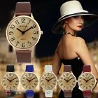 US Fashion Womens Ladies Watches Faux Leather Analog Quartz Casual Wrist Watch image