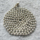 100pcs/lot Stainless Steel 60cm/24inch Bead Ball Chains Dog Tag Chains Wholesale