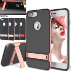 Slim Fit Hybrid Kickstand Bumper Rubber Case Cover For Apple iPhone 6 6S Plus
