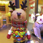 Christmas Ornament Candy Jar Handicraft Plastic Party Decoration Kids Gift Sweet