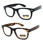 Reading Glasses No Line Progressive Clear Lens Retro Square Frame New Bifocal