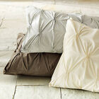 "Pintuck 2 Euro Shams (1 Pair) Egyptian Cotton Sateen 26"" x 26"" Choose Color"