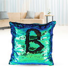 New Double Color Glitter Sequins Cushion Cover Throw Pillow Case Home Car Decor