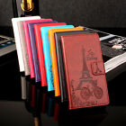 Newest Tower Pattern PU Leather Wallet Card Case Cover for Xiaomi Redmi 3 Pro