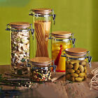 Biscuit Tea Food Kitchen Bottle Storage Glass Jar Canister Container Seal Pkitot