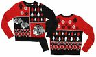 NHL Youth Chicago Blackhawks Holiday Ugly Sweater, Red / Black $24.95 USD on eBay