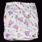 One Size Charcoal Bamboo Cloth Diaper with pocket  Insert Fits 10-40lb