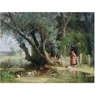 Trademark Fine Art *The Duck Pond* Canvas Art by Wouter Kniff. Shipping Included