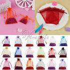 7x9cm/10x15cm Organza Bags Jewelry Gift Pouches Wedding Party Favours Xmas Decor