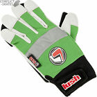 "LUSH ""Freeride"" Slide Gloves Skateboard Longboard GREEN/W Downhill SALE MEDIUM M"