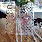 Bling Crystal Heart Ring Stand Pearl Long Rope Soft Gel Case For iPhone 6 7 Plus