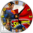S-788 CD CLOCK-SUPERMAN-CLARK KENT-HOME OR OFFICE CLOCK-DESK OR WALL-GREAT GIFT