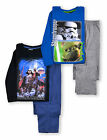 Boys Star Wars PJ Set New Kids Long Sleeved Vader Yoda Pyjamas Ages 4-10 Years