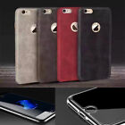 Ultra Thin Premium Leather Case & Tempered Glass Cover For iPhone 7 & 7 Plus