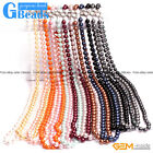"Handmade 10mm Shell Beaded Gemstone Birthstone Long Necklace 36"" Free Shipping"