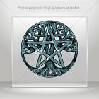 Decals Decal Pentalpha Pentagram Symbol Car Motorbike Bike Garage mtv KR922