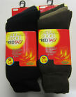 Mens Thermal Socks - 3 Pack - 40B197 - Red Tag - Black/Grey or Green/Brown