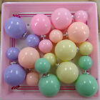 5 pair/lot New Cute Double Sided Earring Stud Ball Piercing Fashion Jewelry