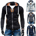 Fashion Mens Hooded Sweatshirt Zipper Coat Jacket Outwear Sweater Hoodies 4color