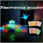 Super Bright Glow in the Dark Fluorescent Powder DIY Glow Pigment 10 Colors