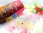 "5/25/100yard *6"" Sparking Rainbow tulle tutu DIY Wedding Party Decoration L2928"
