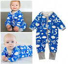 Newborn Baby Boys Long Sleeve Romper Bodysuit One Piece Jumpsuit Outfits Clothes