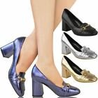 Womens Ladies Low Mid Block Heels Mary Jane Work Party Office Court Shoes Size