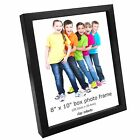 "Black Box Photo Frames 8"" x 10"" Picture Frame Solid Wood Wall & Desk Mountable"