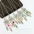 Fashion Womens Retro Dreamcatcher Beads Charm Pendants Necklace Jewelry 51.5cm