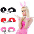 1x Furry Fuzzy Handcuffs Soft Metal Adult Sex Night Sexy Party Game Gag Gift