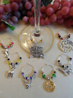 Set of 6 Game Of Thrones Wine Glass Charms & Free Bonus Charm - Great Gift Idea!