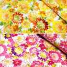 Summers Day Sunflowers Floral 100% Cotton Poplin Fabric (Fabric Freedom)