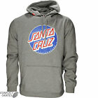 "SANTA CRUZ ""Classic Dot"" Skateboard Hood Sweatshirt GREY Large Hooded Sweat SALE"