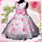 Pinks Christmas Wedding Party Bridesmaid Flower Giirls Dresses SIZE 3-4-5-6-7-8Y