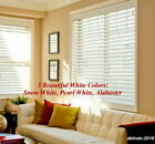 "2"" FAUXWOOD WINDOW BLINDS ~SIZE~ 32.25"" WIDTH x 49"" to 60"" LENGTH ~ WHITE COLORS"
