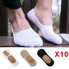 Pack of 10 Pairs Mens Invisible Trainer Liner Socks No Show Secret Footsies