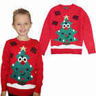Kids Novelty Christmas Jumper Christmas Tree Knitted Crew Neck Xmas Sweater Top