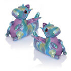 Loungeable Boutique Womens Girls New 3D Plush Dina Dragon Animal Slippers