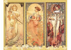 Art print POSTER Alphonse Mucha of Seasons