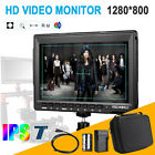 "Feelworld FW759 7"" Pro HD 1280x800 Field Monitor for BMPCC +Battery Pack F Sony"
