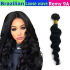 9A LOOSE WAVE Brazilian Real Virgin Human Hair Weave ONE Bundle Remy Lovely Hair