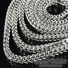 Mens New White Gold Over Sterling Silver 925 Franco Box Snake Chain Necklace 3mm