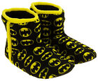Mens Gorgeous Batman Fleece Warm Pull On Boot Slippers Sizes UK 7 8 9 10 11 12