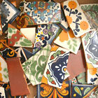 #003) Great selection of Broken Tiles Mexican Talavera tile for mosaics