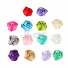 4cm Satin Roses Buds Flowers Heads Rosette For DIY Baby Hairband Scrapbook Decor