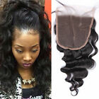 "Lace Closure 5x5"" Body Wave Virgin Brazilian Hair 130% Density Lace Closure"