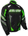 CastleX Mens Green/Black Bolt G4 Performance Snowmobile Jacket Snow Snocross